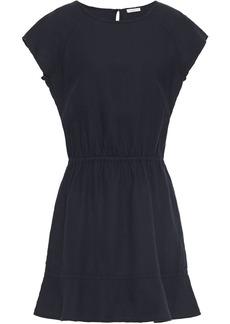 Joie Woman Quora Fluted Linen Mini Dress Midnight Blue