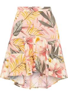 Joie Woman Radhiya Floral-print Linen Mini Skirt Peach