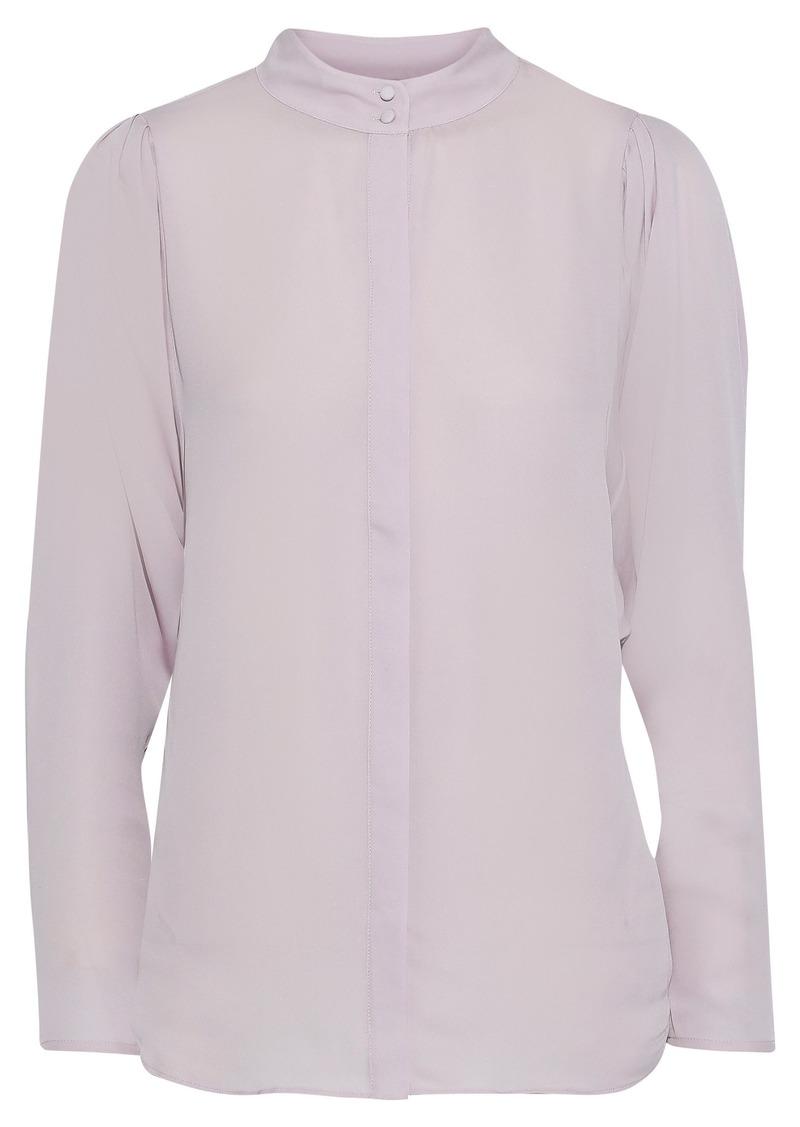 Joie Woman Rashelda Silk Crepe De Chine Shirt Lilac
