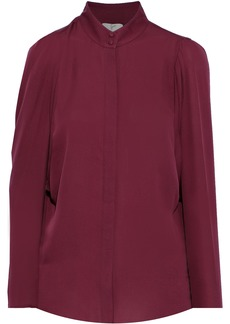 Joie Woman Rashelda Silk Crepe De Chine Shirt Plum