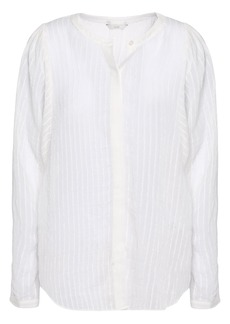 Joie Woman Rashelda Striped Gauze Shirt White