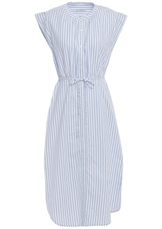 Joie Woman Striped Cotton-broadcloth Dress White