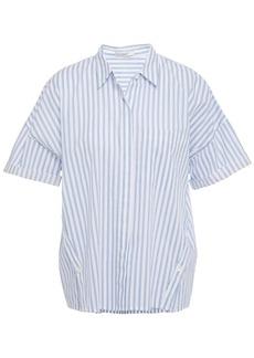 Joie Woman Striped Cotton-broadcloth Shirt Light Blue