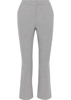 Joie Woman Tabanica Checked Jacquard Kick-flare Pants Stone
