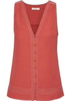 Joie Woman Tadita Crepe Top Brick