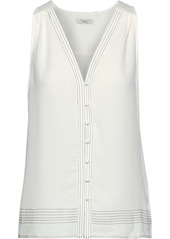 Joie Woman Tadita Crepe Top Off-white