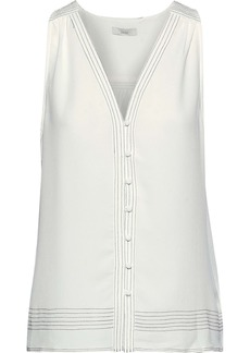Joie Woman Tadita Textured-crepe Top Off-white