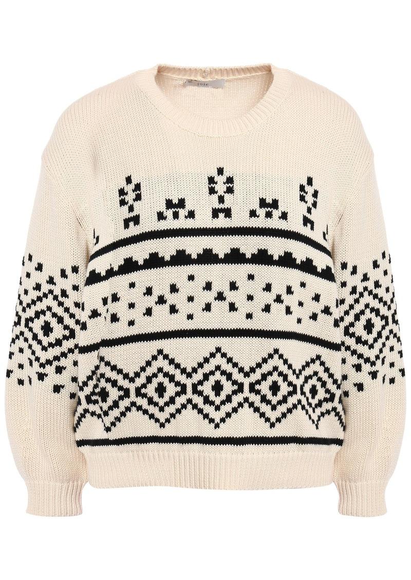 Joie Woman Talena Fair Isle Cotton Sweater Cream