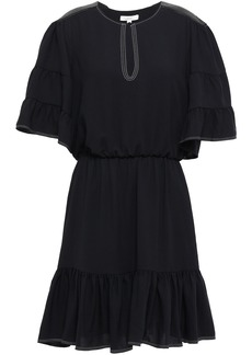 Joie Woman Tersea Gathered Crepe Mini Dress Black