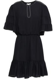 Joie Woman Tersea Gathered Crepe Mini Dress Black