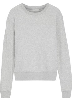 Joie Woman Tiered Broderie Anglaise-paneled French Cotton-terry Sweatshirt Light Gray