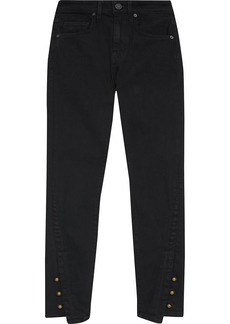 Joie Woman Tiesa Button-detailed Mid-rise Skinny Jeans Black