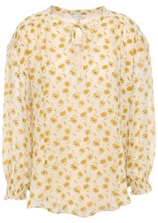 Joie Woman Tyla Floral-print Silk-georgette Blouse Pastel Yellow