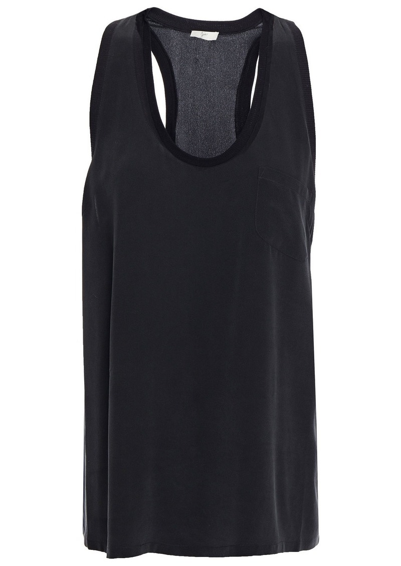 Joie Woman Washed-silk Tank Black