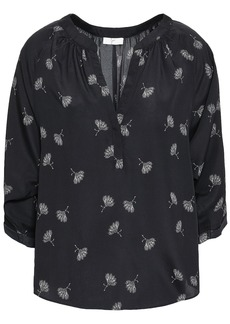 Joie Woman Yareli Printed Crepe De Chine Blouse Black