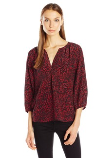 Joie Women's Addie B Lip Leopard Print Blouse  M