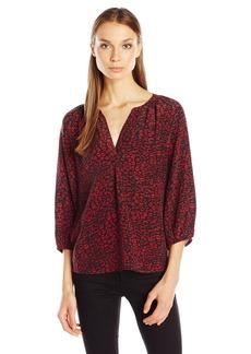 Joie Women's Addie B Lip Leopard Print Blouse  S