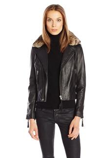 Joie Women's Ailey B Paper Leather Jacket  L