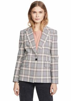 Joie Women's Anilah Blazer  Grey Plaid