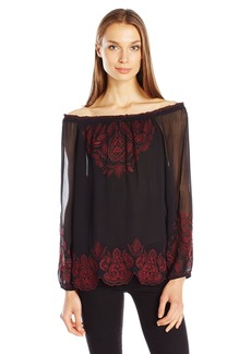 Joie Women's Ariena Embroidered Blouse  XS