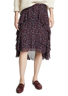 Joie Women's Brigida Skirt  Red Print