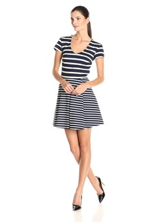 Joie Women's Chikara Striped Ponte Fit and Flare Dress