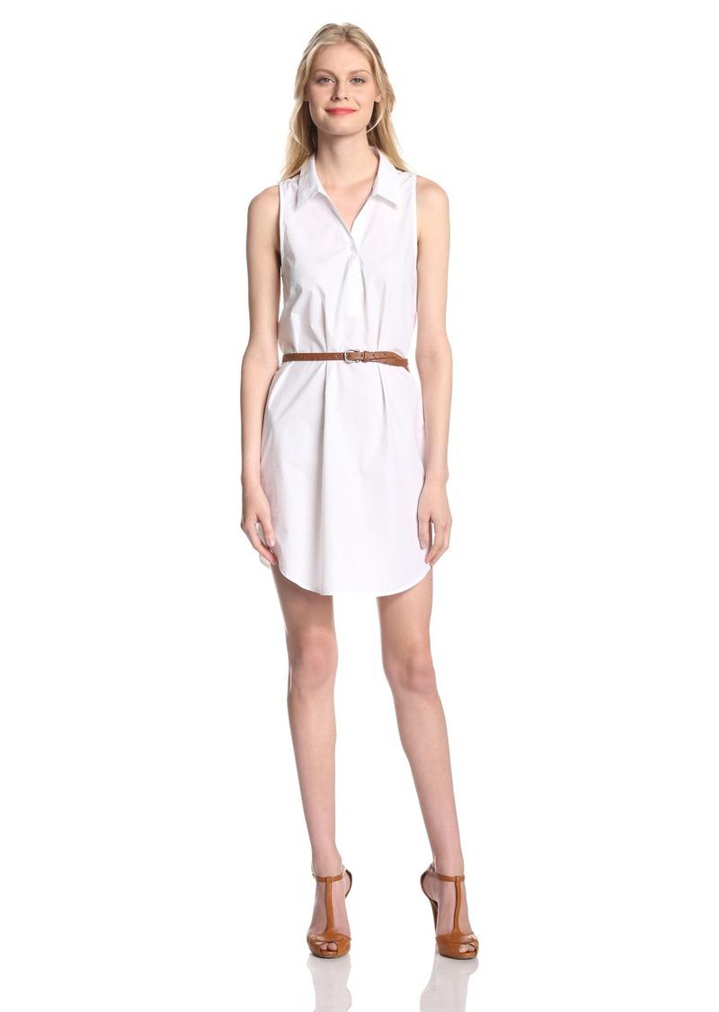 Joie Women's Darlena Cotton Poplin Sleeveless Shirt Dress