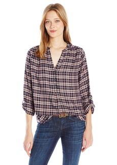 Joie Women's Daylan Windowpane Plaid Shirt  XS