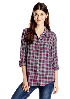 Joie Women's Eirene Yarn Dyed Plaid Longsleeve Top  X-Small