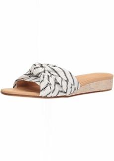 Joie Women's Fabrizia Wedge Sandal Porcelain-Caviar 37 Regular EU (7 US)