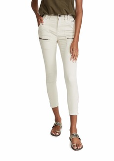 Joie Women's High Rise Park Skinny Jeans  Off White 25
