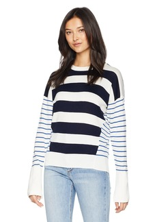 Joie Women's Kaylara Cocktail Stripe Cotton Sweater  l