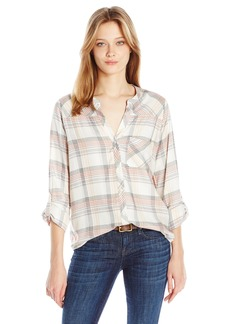 Joie Women's Kisa Large Plaid Print Top  M