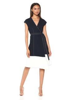 Joie Women's Mahesa Short Sleeve Wrap Dress  M