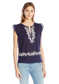 Joie Women's Mandel Embroidered Blouse  M