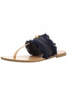 Joie Women's NAIRI Flat Sandal Denim Fringe-Navy 3 M EU ( US)