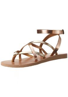 Joie Women's ODA Flat Sandal Platinum-Rosegold 3 M EU ( US)