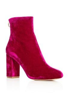 Joie Women's Saleema Velvet Block Heel Booties