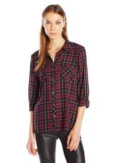 Joie Women's Sequoia Plaid Cotton Shirt  M