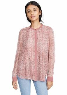 Joie Women's Tassa Top  Pink Print