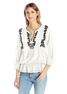 Joie Women's Virani Embroidered Blouse  L