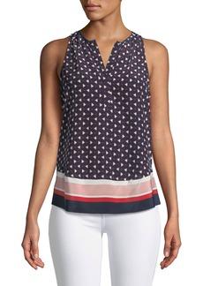 Joie Xandry Printed Sleeveless Silk Top