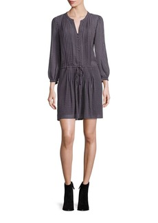 Joie Xyla Check Silk Dress