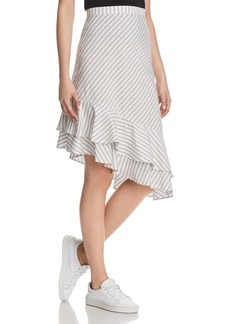Joie Yenene Striped Flounce-Hem Skirt