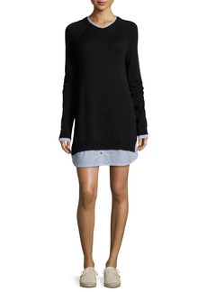 Joie Zaan Long-Sleeve Sweater Dress