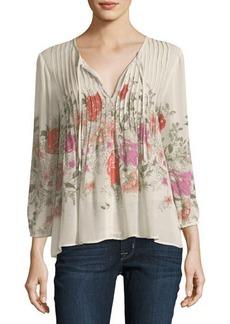 Joie Zakia Floral-Print Silk Top