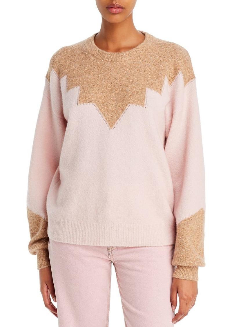 Joie Zinca Color-Blocked Wool-Blend Sweater
