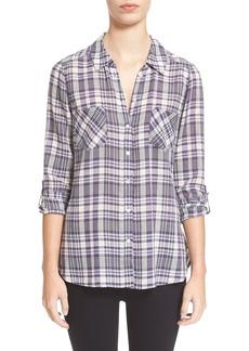 Joie'Aidan' Woven Plaid Shirt