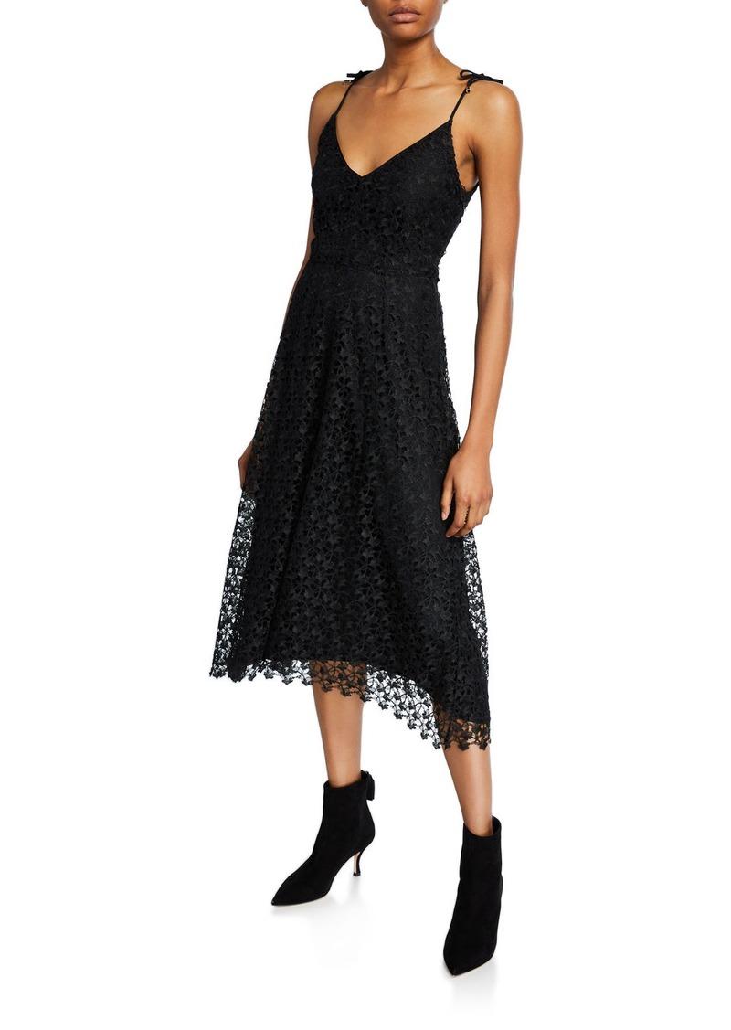 Joie Josana Lace V-Neck Midi Dress
