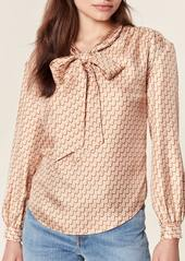 Joie Joslin Bow Silk Top - L